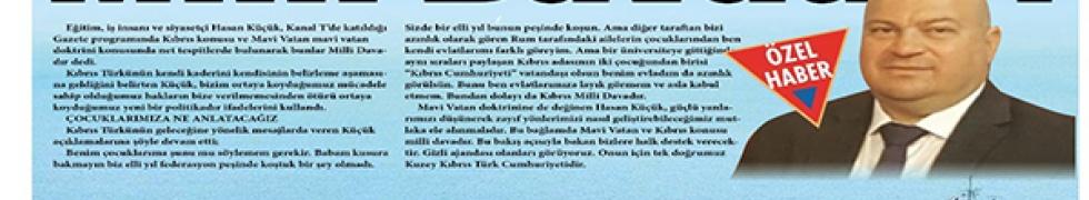Hasan Küçük Mavi Vatan ve Kıbrıs Vurgusu